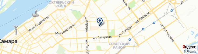 Расположение клиники ММЦ Медикал Он Груп-Самара