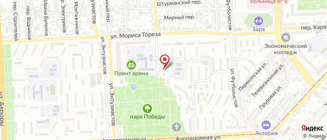 Карта расположения пункта доставки Самара Мориса Тореза в городе Самара