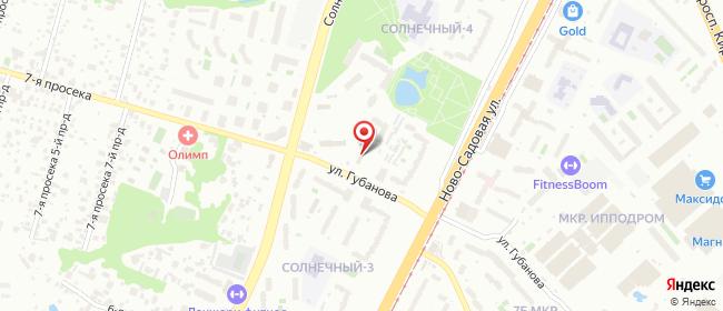 Карта расположения пункта доставки Самара Губанова в городе Самара