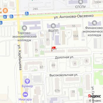 г. Самара, ул. Карбышева,77 на карта