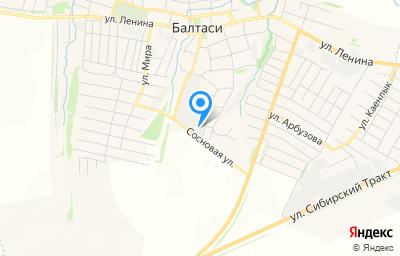 Местоположение на карте пункта техосмотра по адресу Респ Татарстан, пгт Балтаси, ул И.Саляхова, д 8/1, пом 1000
