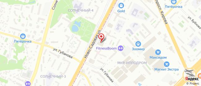 Карта расположения пункта доставки Самара Ново-Садовая в городе Самара