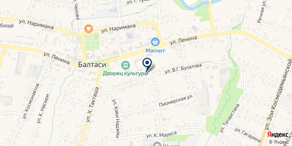 МЕБЕЛЬНАЯ ФАБРИКА КАРАДУГАН на карте Балтаси