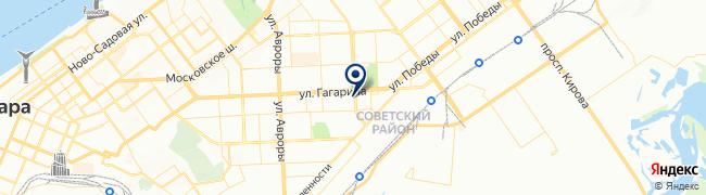 Расположение клиники Диабет на ул. Советской Армии