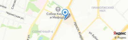 Цветочная Поляна на карте Самары