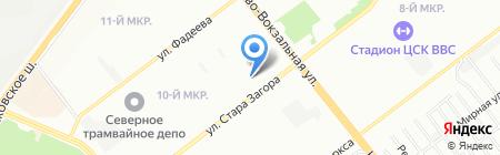 Афина на карте Самары