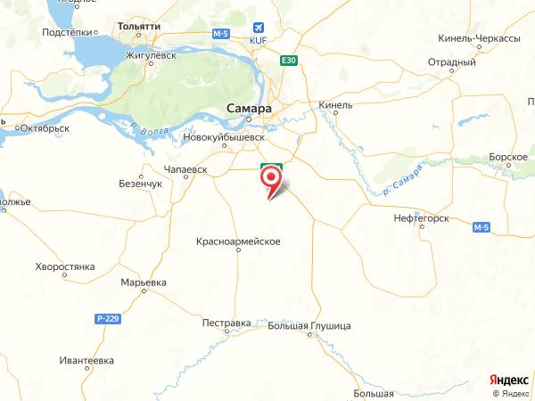 село Сухая Вязовка на карте