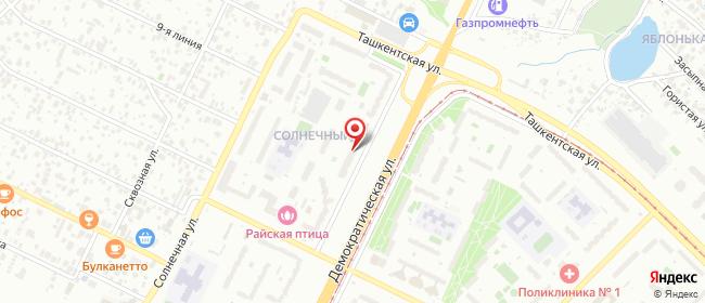 Карта расположения пункта доставки Самара Демократическая в городе Самара