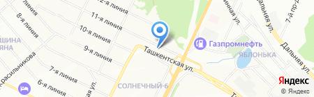 Автоблеск на карте Самары