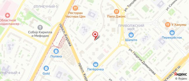 Карта расположения пункта доставки Пункт выдачи в городе Самара