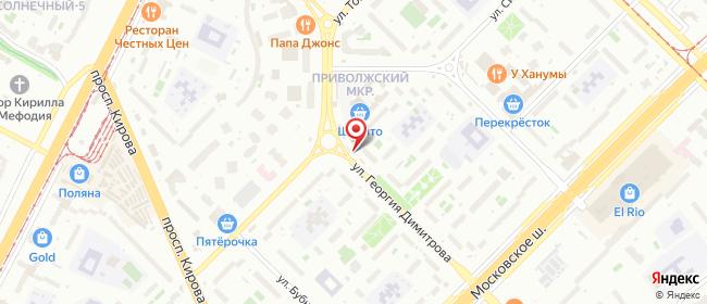 Карта расположения пункта доставки Самара Георгия Димитрова в городе Самара
