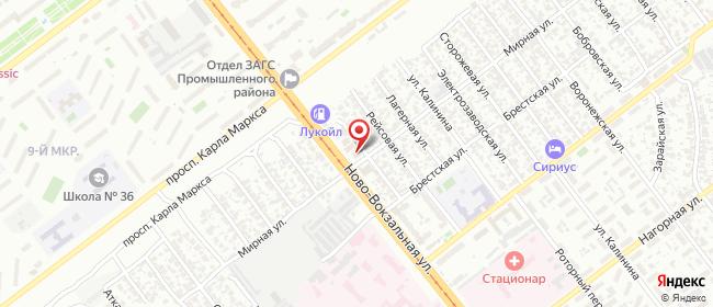 Карта расположения пункта доставки Самара Мирная в городе Самара