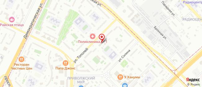Карта расположения пункта доставки Ростелеком в городе Самара