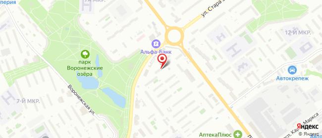 Карта расположения пункта доставки Самара Стара Загора в городе Самара