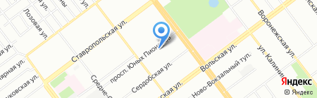 Детский сад №166 на карте Самары