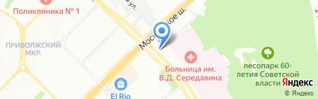 Каскад-М на карте Самары