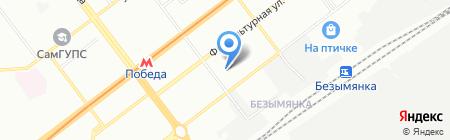 Детский сад №201 на карте Самары