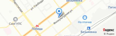 Гимназия №4 на карте Самары