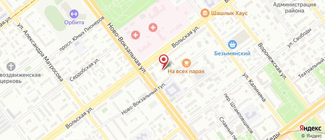 Карта расположения пункта доставки Самара Вольская в городе Самара