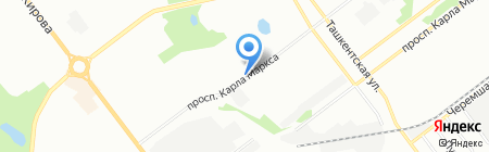 Автомойка на проспекте Карла Маркса на карте Самары