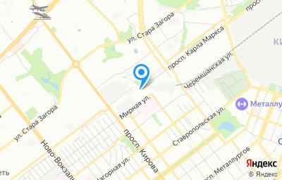 Местоположение на карте пункта техосмотра по адресу г Самара, ул Мирная, д 3
