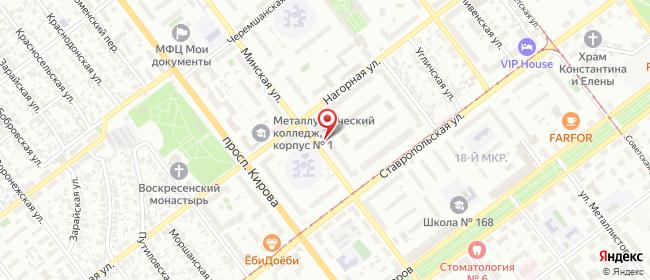 Карта расположения пункта доставки Самара Минская в городе Самара