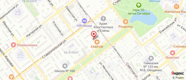 Карта расположения пункта доставки Самара Юных Пионеров в городе Самара