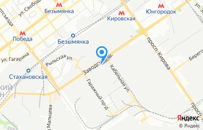 Местоположение на карте пункта техосмотра по адресу г Самара, Заводское шоссе, д 13Д