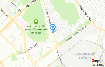 Местоположение на карте пункта техосмотра по адресу г Самара, ул Алма-Атинская