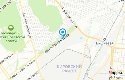 Местоположение на карте пункта техосмотра по адресу г Самара, пр-кт Карла Маркса, д 495