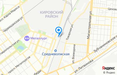 Местоположение на карте пункта техосмотра по адресу г Самара, ул Олимпийская, д 57Г