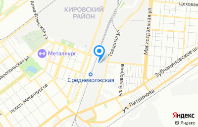 Местоположение на карте пункта техосмотра по адресу г Самара, п Зубчаниновка, ул Товарная, д 24, пом 42