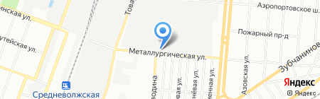 Промоборудование на карте Самары