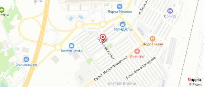 Карта расположения пункта доставки Крутые ключи в городе Самара
