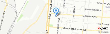 Луч на карте Самары