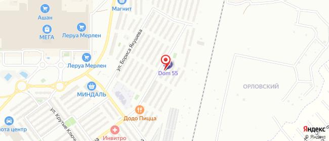 Карта расположения пункта доставки Самара Ивана Финютина (Крутые Ключи мкр.) в городе Самара