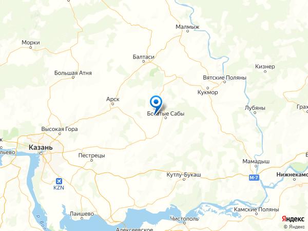 село Мингер на карте