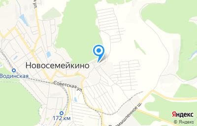Местоположение на карте пункта техосмотра по адресу Самарская обл, Красноярский р-н, пгт Новосемейкино, ул Мира, д 17Б