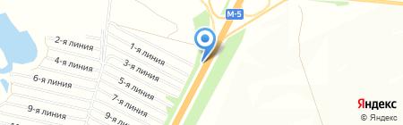 Лилия на карте Белозерки