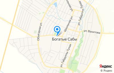 Местоположение на карте пункта техосмотра по адресу Респ Татарстан, пгт Богатые Сабы, ул З.Юсупова, д 9А