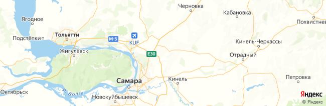 Самарская область на карте