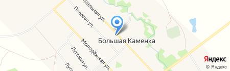 Поволжский банк Сбербанка России на карте Большой Каменки