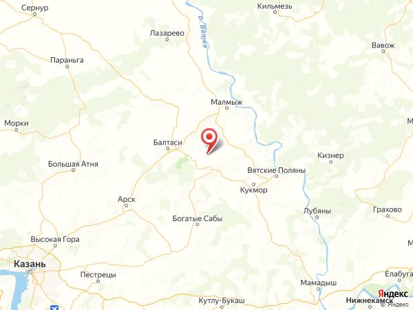 село Лельвиж на карте
