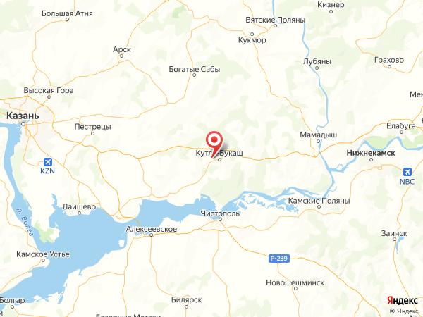 деревня Большое Кадряково на карте