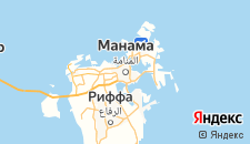Отели города Манама на карте