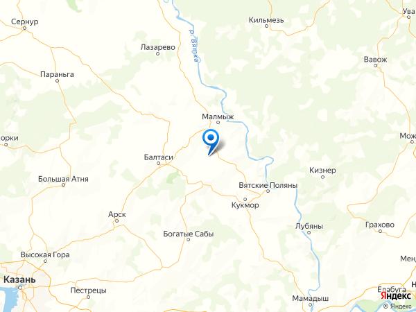 село Новый Сардек на карте