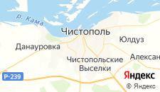 Отели города Чистополь на карте