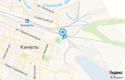 Местоположение на карте пункта техосмотра по адресу Самарская обл, г Кинель, ул Орджоникидзе, д 135, кв 13