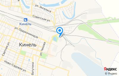Местоположение на карте пункта техосмотра по адресу Самарская обл, г Кинель, ул Орджоникидзе, д 135, кв 135А