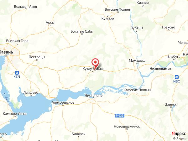 деревня Тябердино-Челны на карте